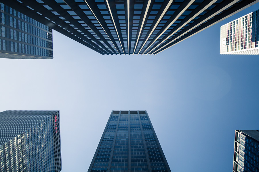 Buildings from below-1