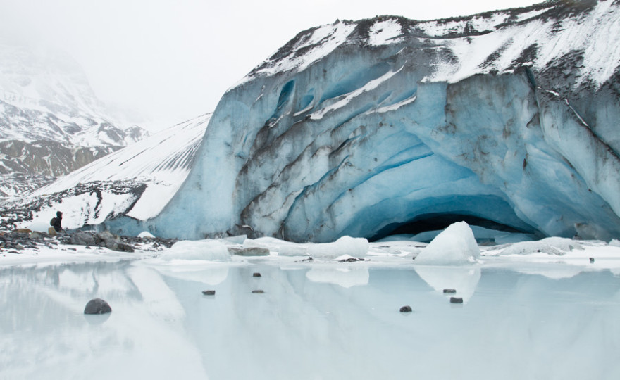 Huge Glacier With Person-1
