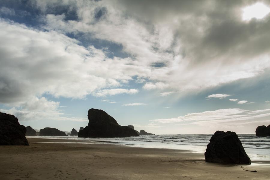 coastline, beach, rocks, rocky beach