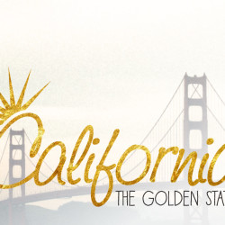 california, golden state, typography, expensive, travel tip, gold nugget, do you even sift, shine, bright, gold leaf,